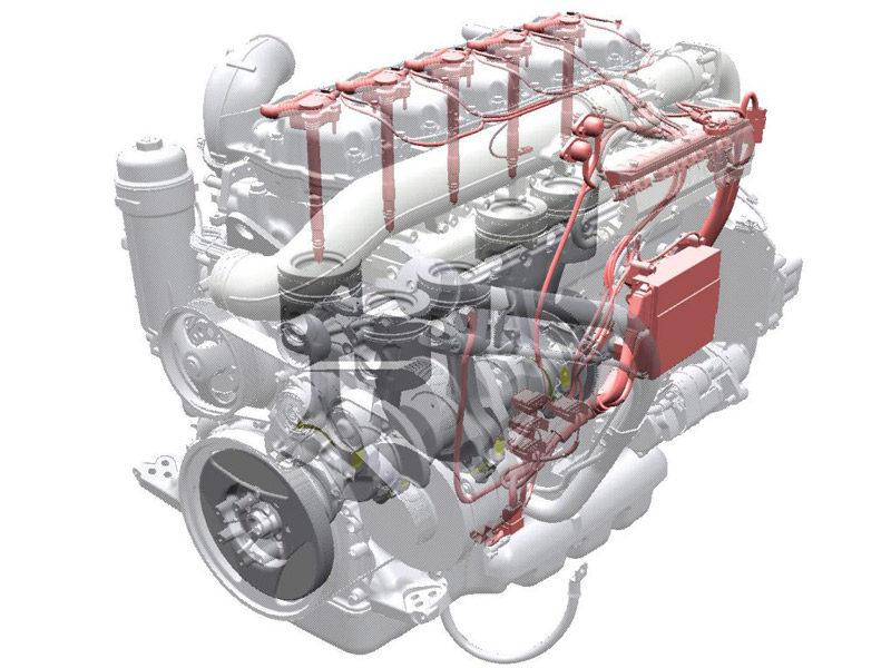 газодизельный двигатель грузовика Scania