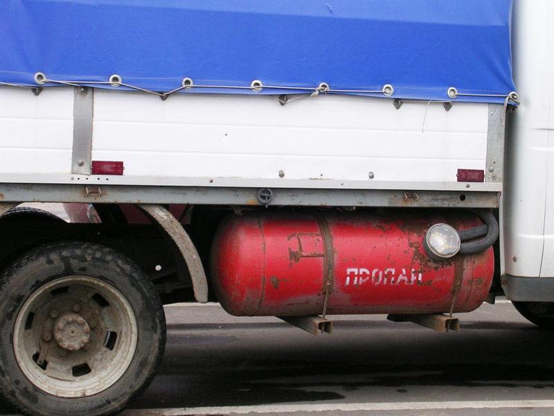 баллон газа на газели