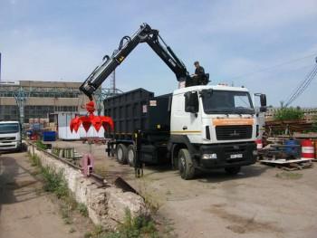ломовоз МАЗ 6312 и КМУ Hiab 10000XG