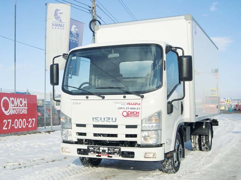 Изотермический фургон на шасси Isuzu Elf 3.5 long (NMR85H)