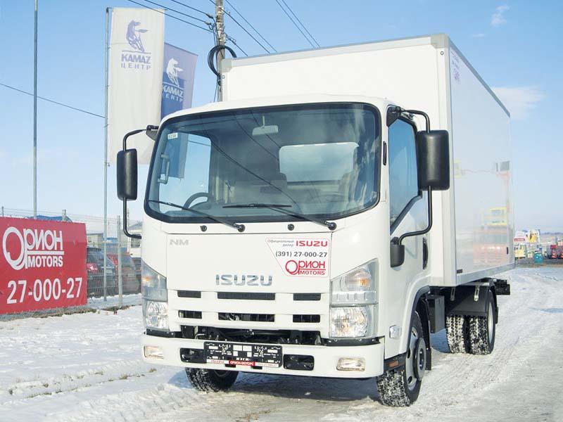 Изотермический фургон на шасси Isuzu Elf 3.5 long (NMR85H)
