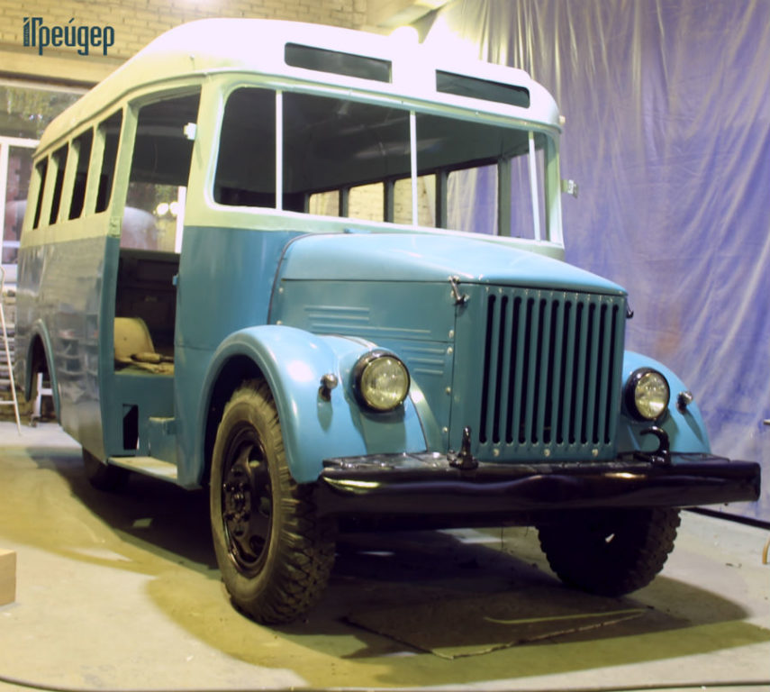 КаВЗ-651 в процессе реставрации