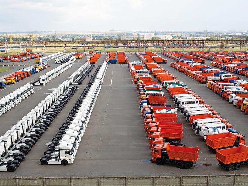 Складская площадка грузовой техники
