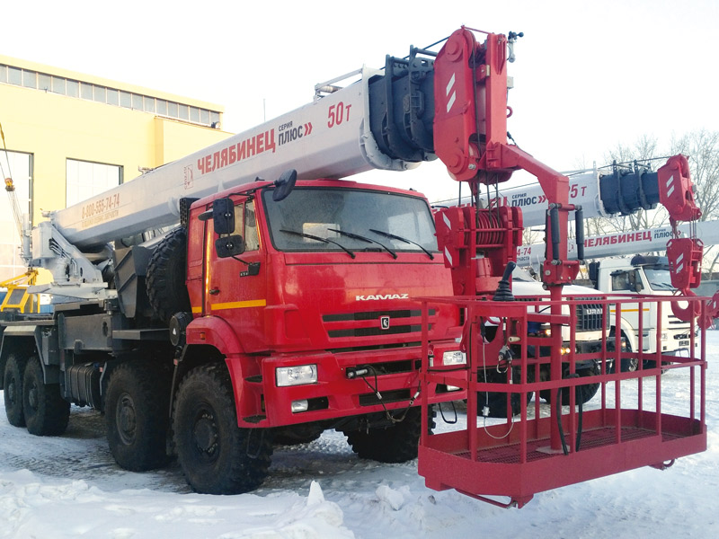 Автокран Челябинец, серия Плюс, 50 тонн