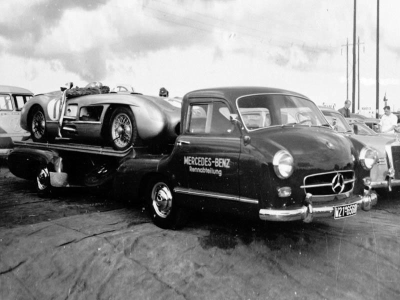 Mercedes-Benz Renntransporter: быстрый перевозчик гоночных авто