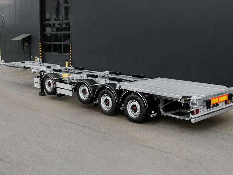 Grunwald выпустил новый прицеп-контейнеровоз с вынесенной осью