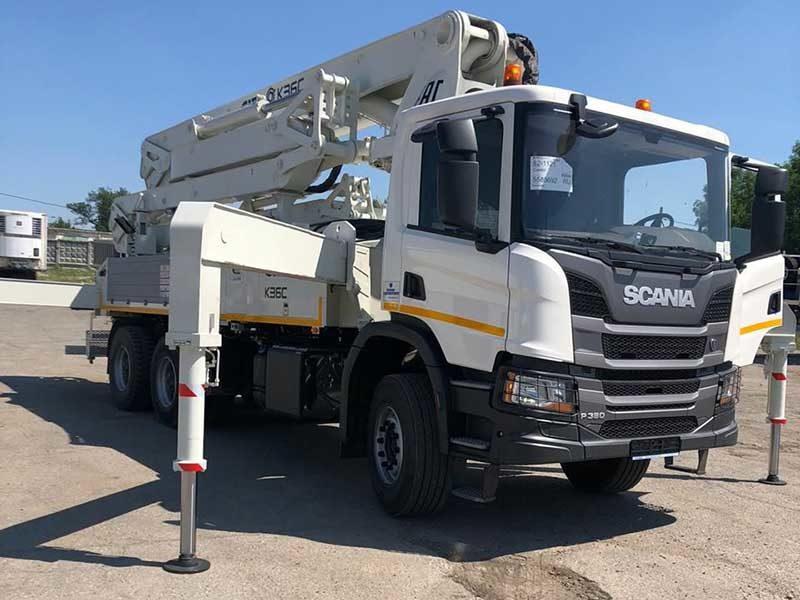 На базе Scania сделали новый автобетононасос