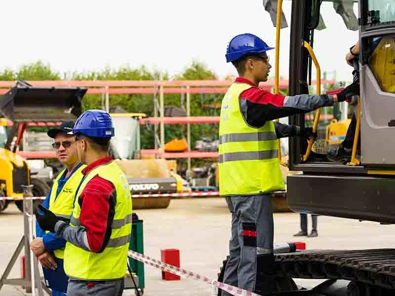 Volvo предоставила экскаваторы для конкурса по обслуживанию тяжёлой техники