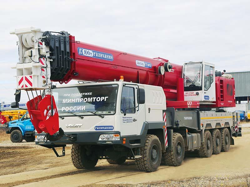«Галичанин» 100 тонн — доступное решение для подъема тяжёлых грузов