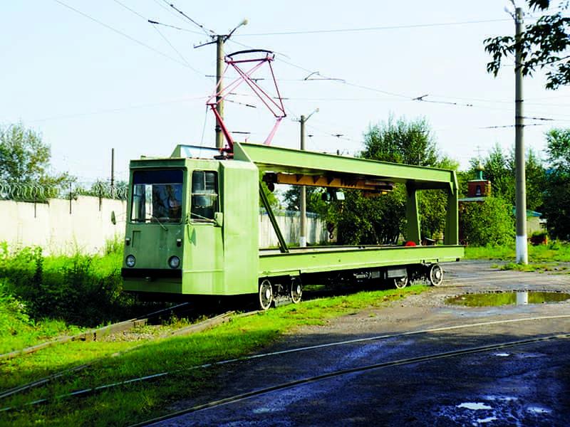 Рельсотранспортёр ТК-28 на базе КТМ-5М3 (71-605)