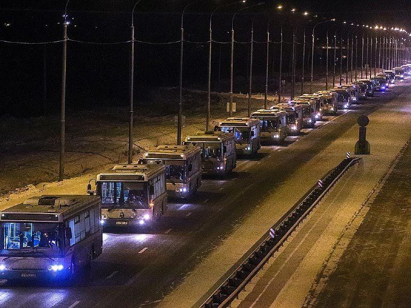 автобусы ЛиАЗ направляются в Красноярск
