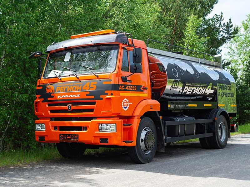 Автогудронатор на шасси КамАЗ АСМ-43253 завод регион 45
