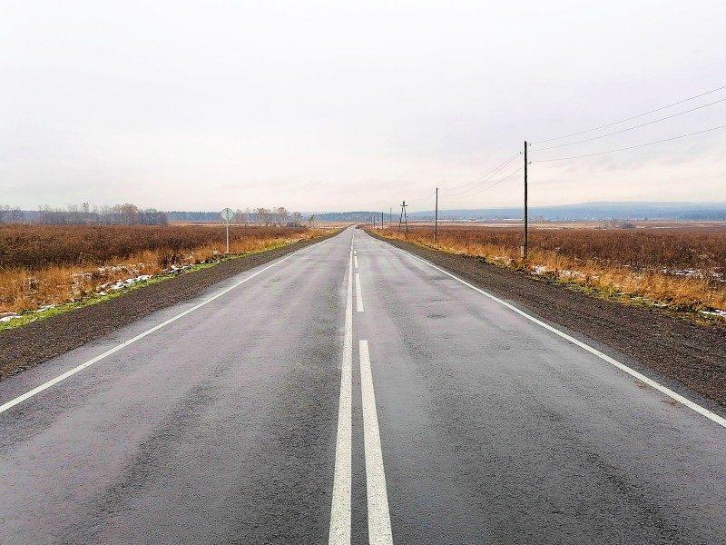Разметка на отремонтированной дороге