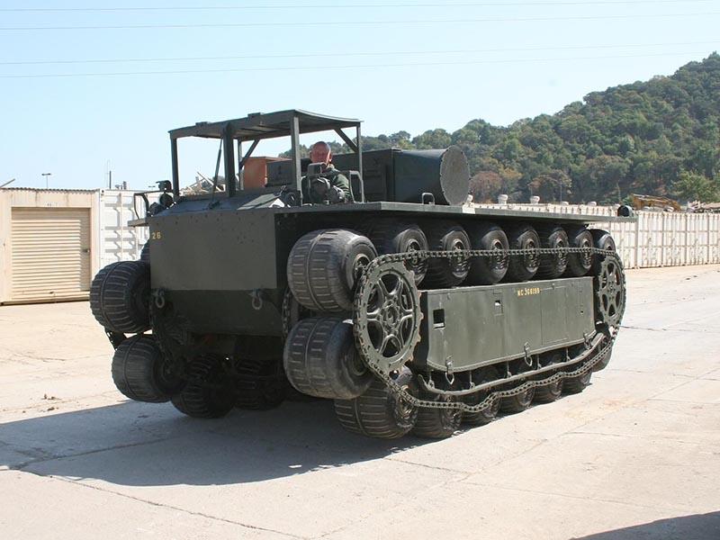 XM-759: болотоход-амфибия с колёсами в гусеницах