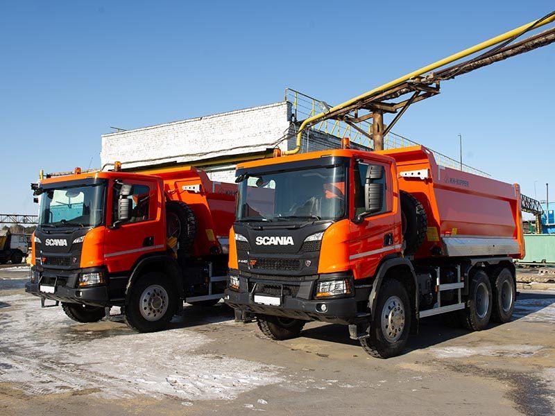 Для НЛМК выпустили два новых самосвала Scania