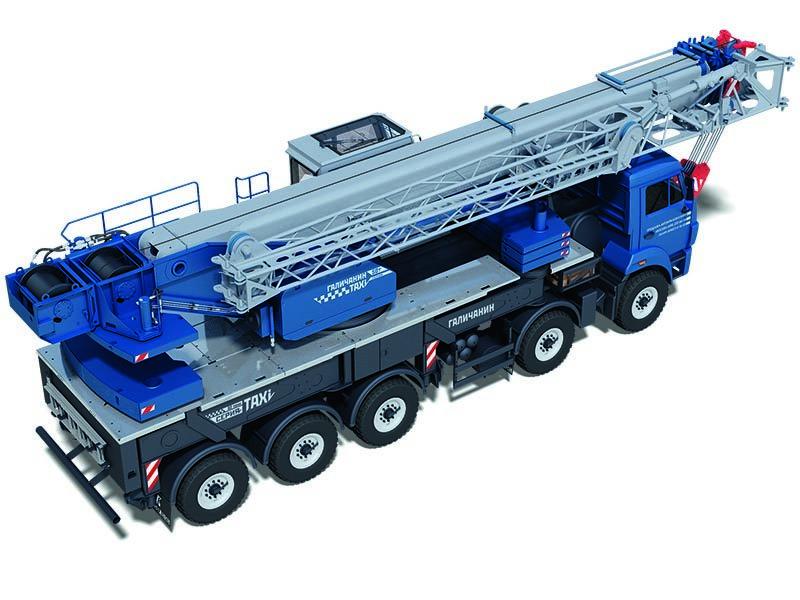"""Автокран """"ГАЛИЧАНИН"""" грузоподъёмностью 50 тонн передвигается без спецразрешений и демонтажа узлов"""