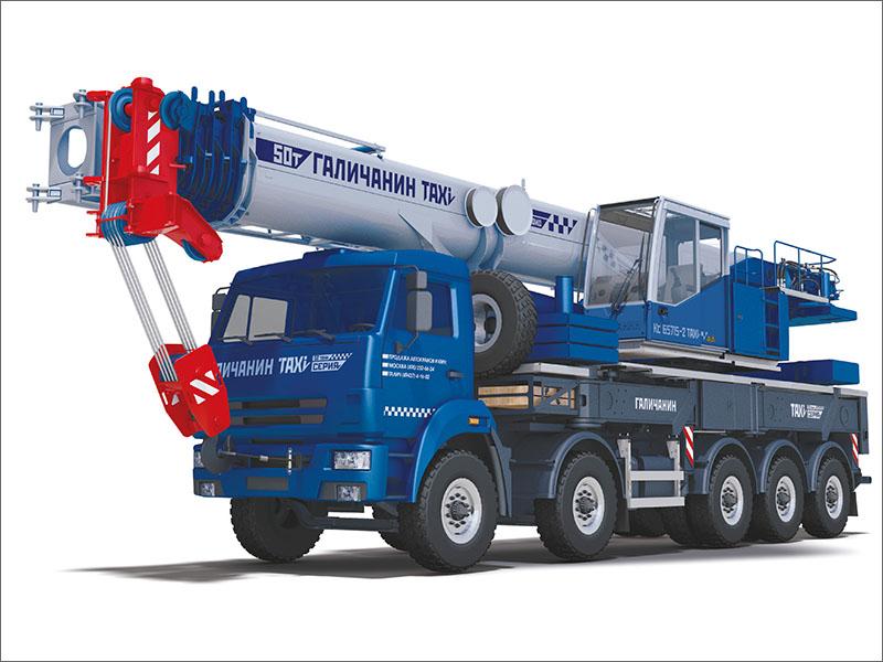 Автокран «Галичанин» грузоподъёмностью 50 тонн передвигается без спецразрешений и демонтажа узлов