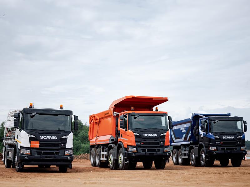 Самосвальная техника Scania